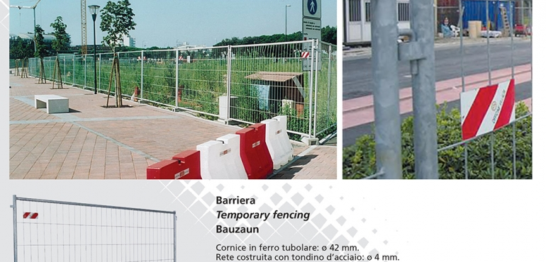 Barriere mobili cantiere Temporary fencing