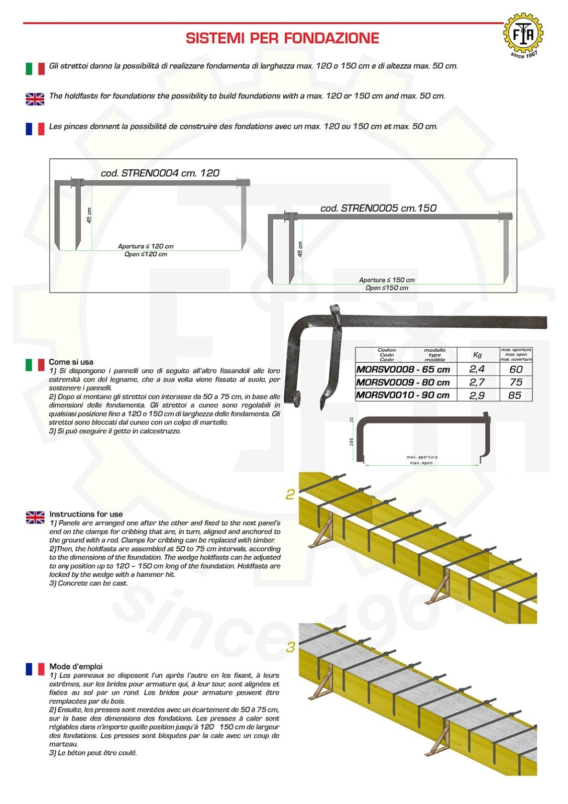 New brochure for foundation systems and hammer clamps