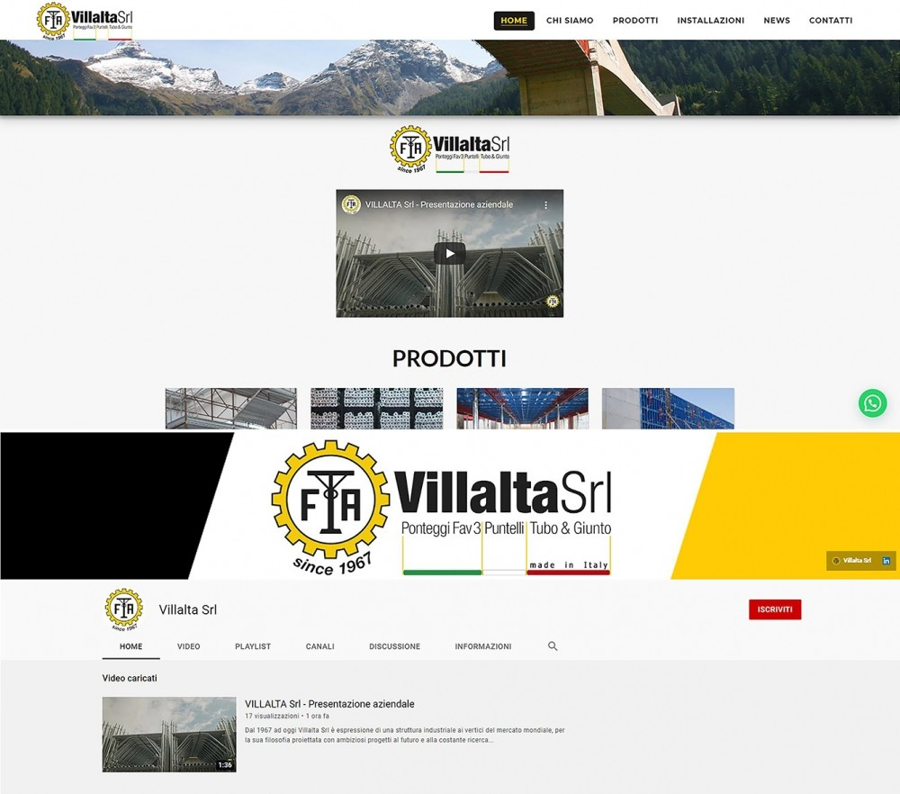 VILLALTA SRL presents its new video and YouTube channel